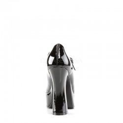 Demonia Dolly 50 Platform Pump Black Patent