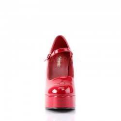 Demonia Dolly 50 Platform Pump Red Patent