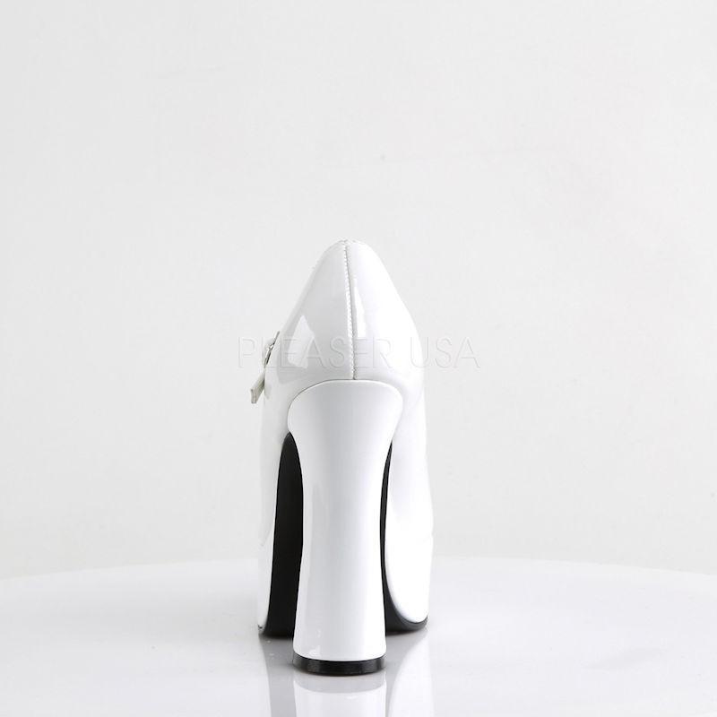 Demonia Dolly 50 Platform Pump White Patent