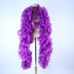 Dark Purple Fluffy Crystal Organza Boa 250cm