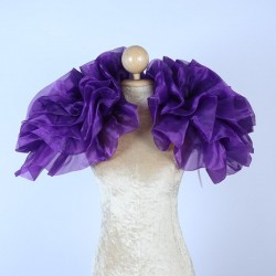 Organza Boa Shrug Dark Purple