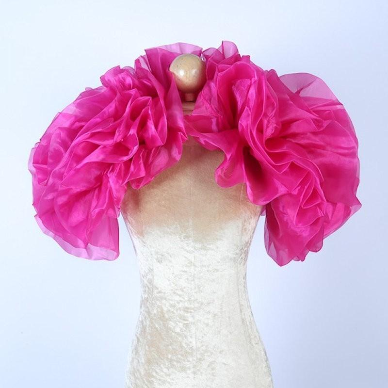 Organza Boa Shrug Hot Pink