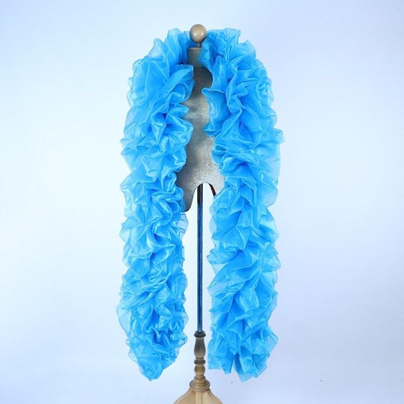 Organza Boa 250cm Fluffy Aqua