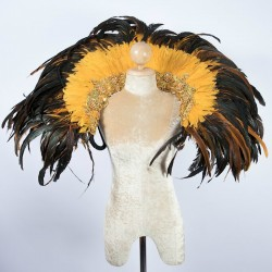 Feather Collar Gold Mix