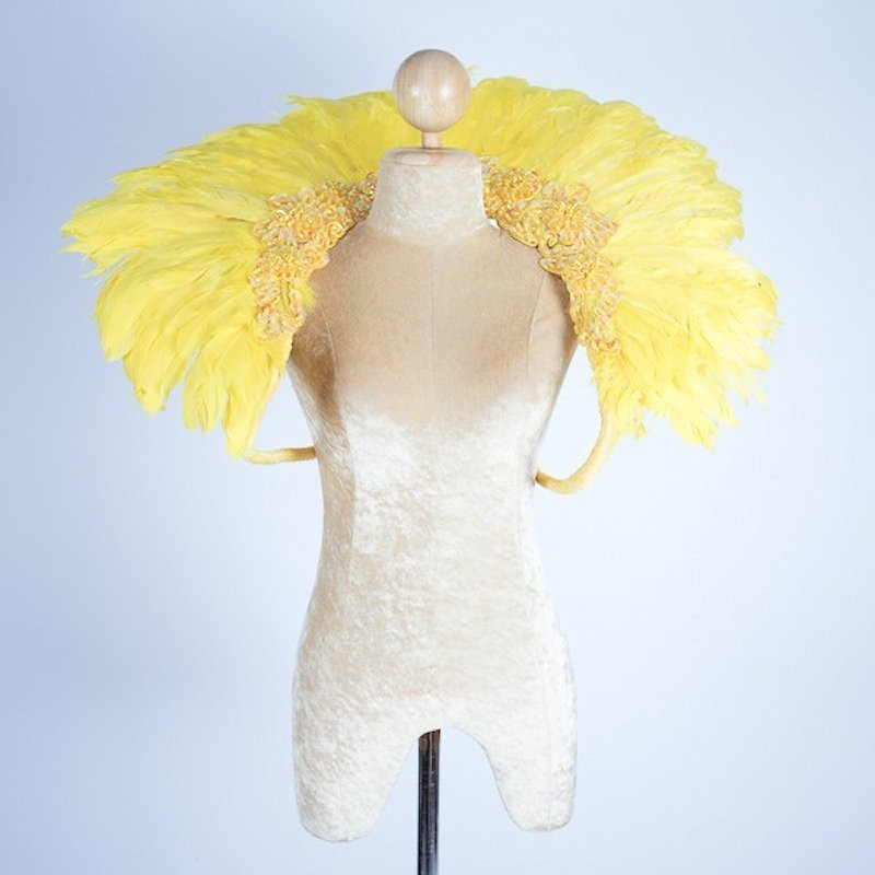 Duck Feather Collar Yellow