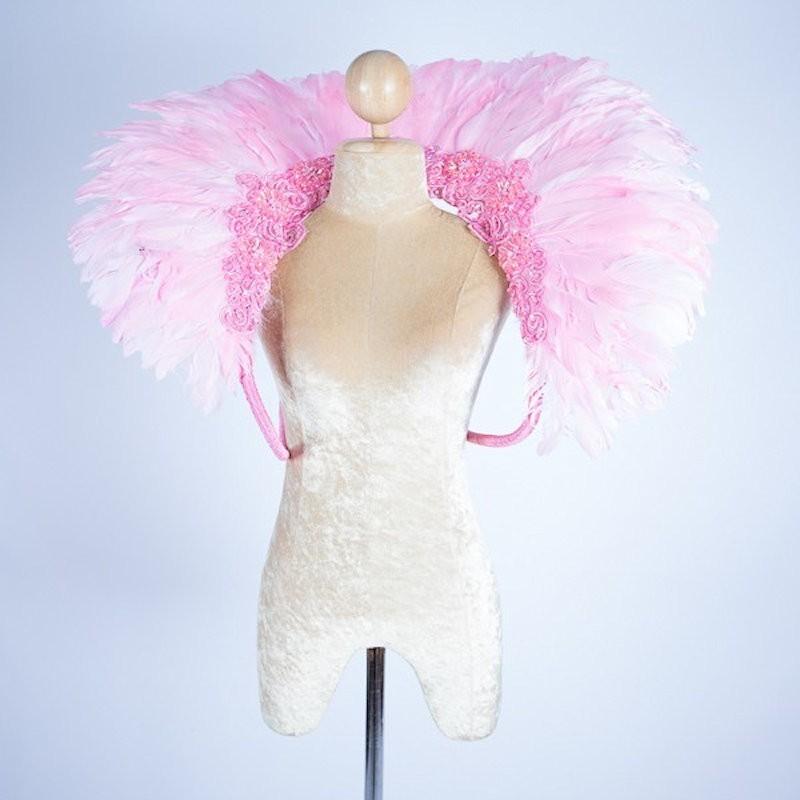 Duck Feather Collar Light Pink