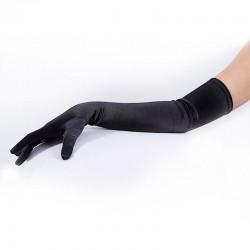 Black Long Satin Glove