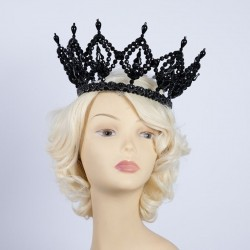 Deluxe Plastic Crown Black