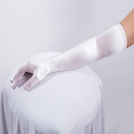Long Satin Glove Light Pink