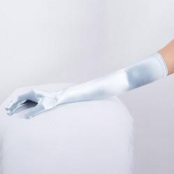 Light Blue Long Satin Glove