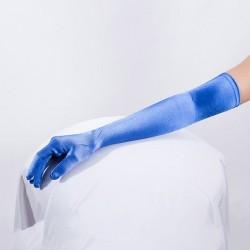 Royal Blue Long Satin Glove