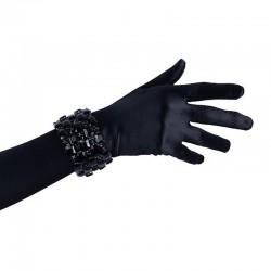 Black Crystal Diamante Bracelet No 2