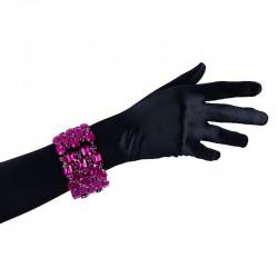 Hot Pink Crystal Diamante Bracelet No 2