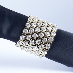 Gold Plated Crystal Diamante Bracelet No 18