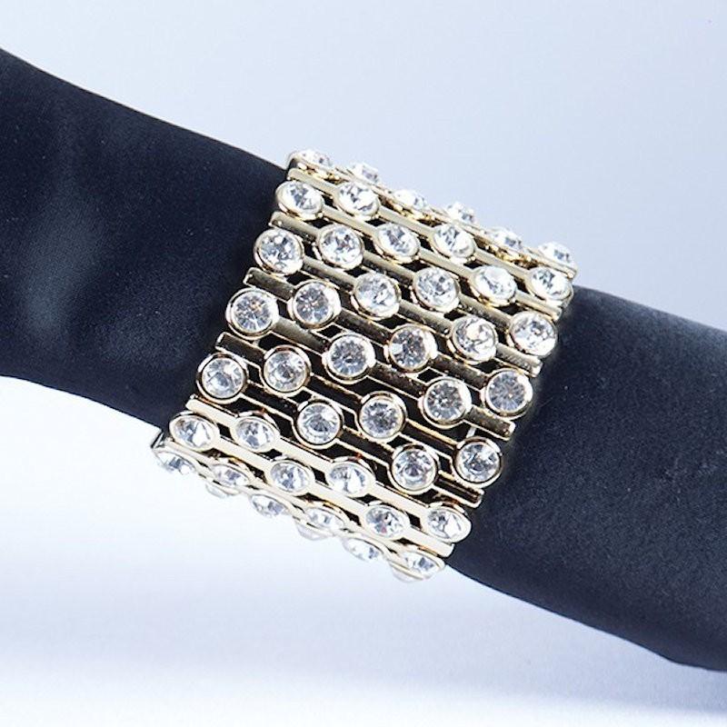 Gold Plated Crystal Diamante Bracelet No 18