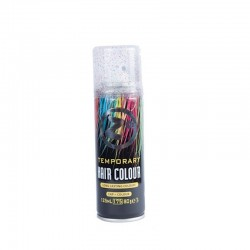 Colour Hair Spray Silver Glitter