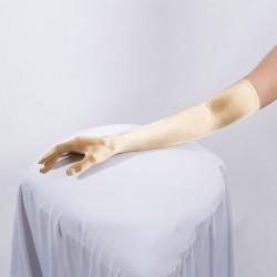 Long Satin Glove Gold