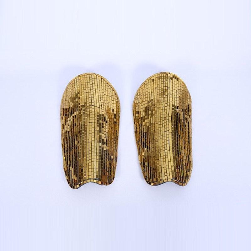 Leg Guards Mirrored Gold