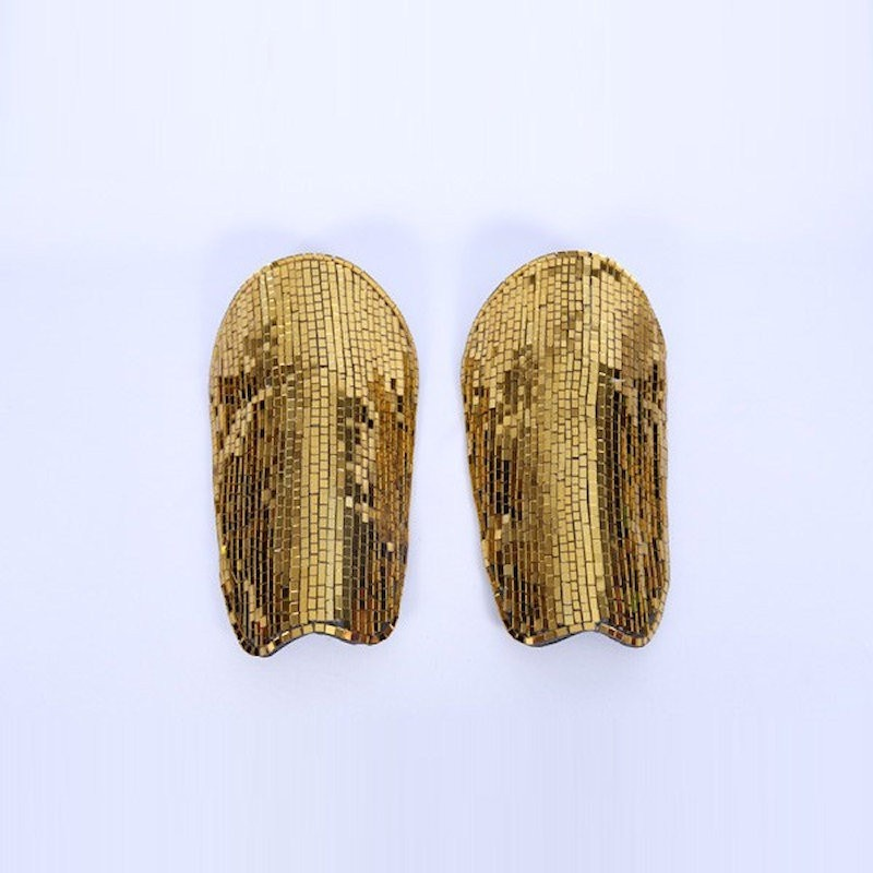 Mirrored Leg Guards Gold