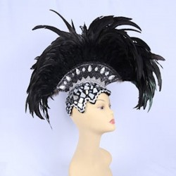 Mirror Mohawk Feathered Headpiece