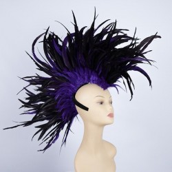Indian Feathered Mohawk Purple