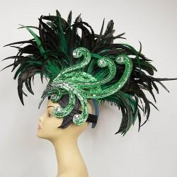 Glitter Carnival Feathered Mohawk
