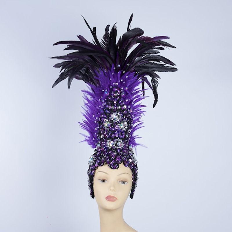 Feathered Tribal Headpiece Purple
