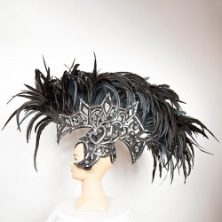 Deluxe Feathered Mohawk Headpiece