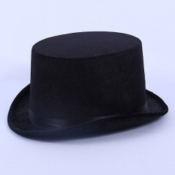 Top Hat Satin Black