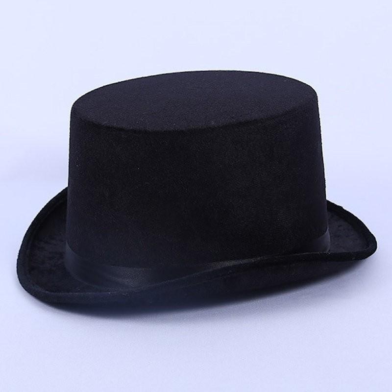 Top Hat Satin Black