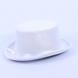 Top Hat Satin White