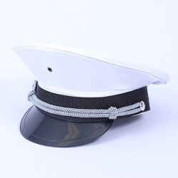 Deluxe Captain Hat Black and White