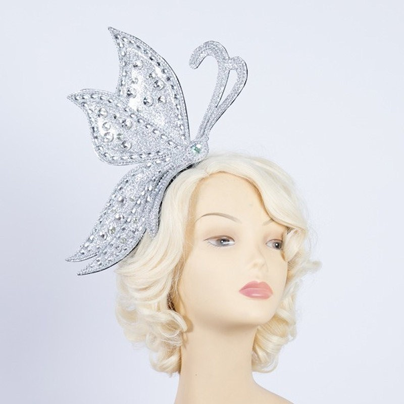 Half Butterfly Headband Silver