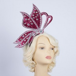 Half Butterfly Headband Red