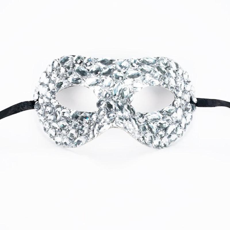 Clear Crystal Diamante Mask