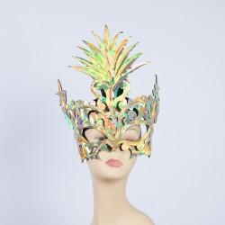 Diamante Party Mask Yellow