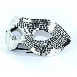 Mirrored Mask No 1 Silver