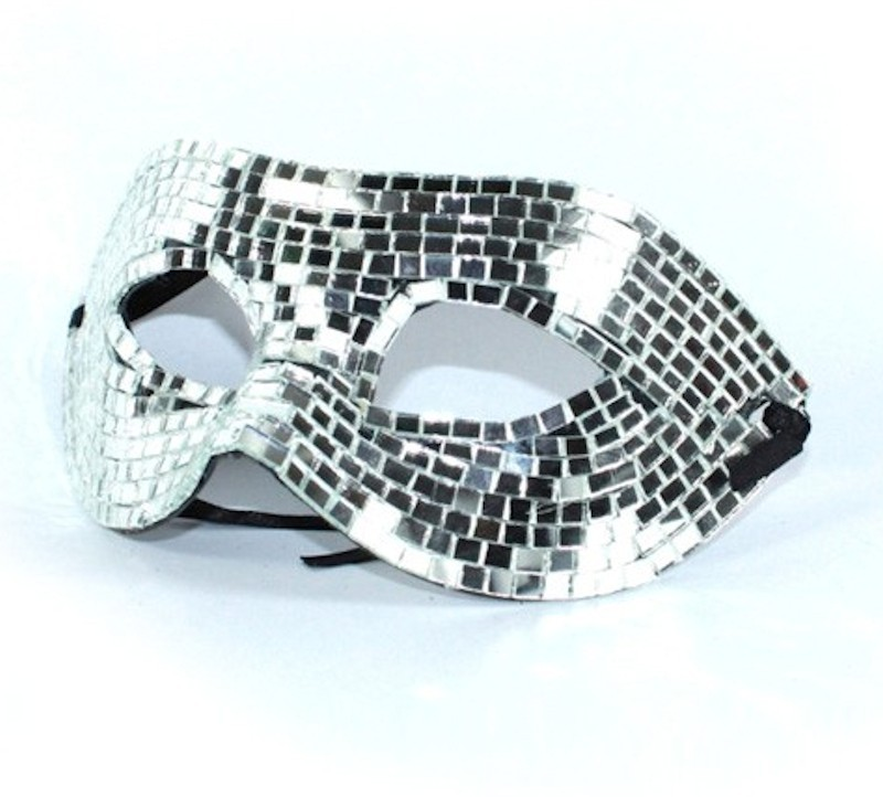 Mirrored Mask Large Silver