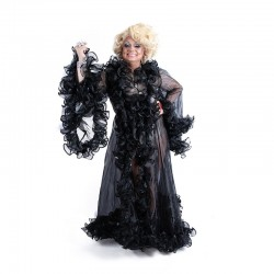 Organza Ruffle Jacket Transparent Black
