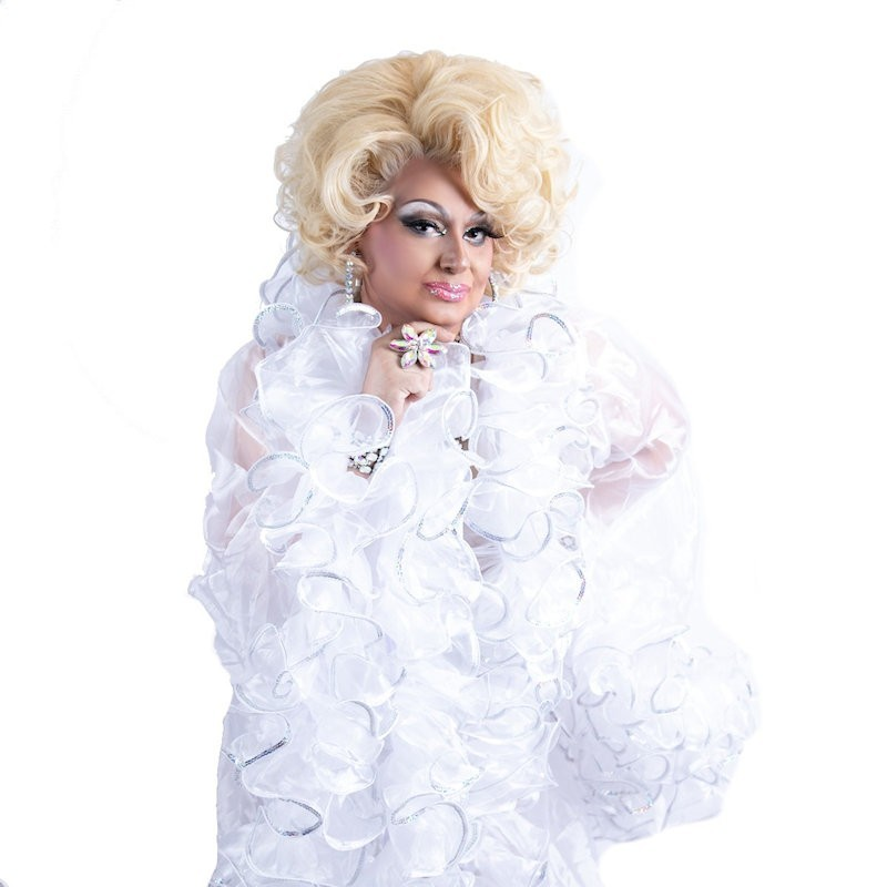 Organza Ruffle Jacket Transparent White