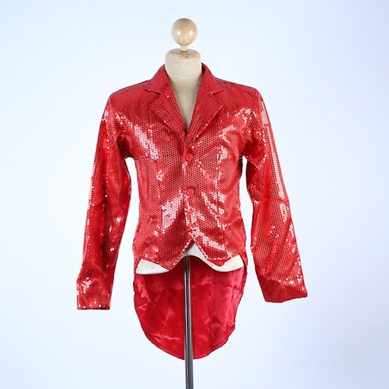 Red Sequin Tails Jacket