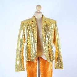 Sequin Tails Jacket Gold