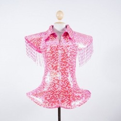 Sequin Ga Ga Jacket Hot Pink and Silver
