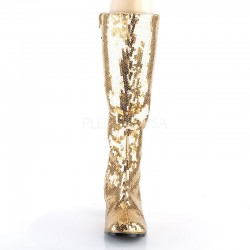 Pleaser Spectacular 300 Sequin Boot Gold