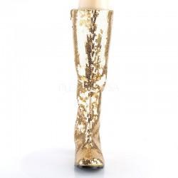 Spectacular 300 Boot Gold Sequin Bordello