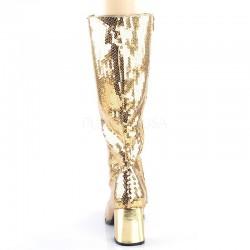 Pleaser Spectacular 300 Boot Gold Sequin
