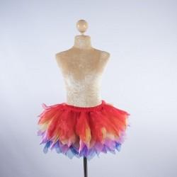 Tinkerbell Crystal Organza Skirt Rainbow