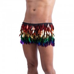 Rainbow Unisex Diamond Cut Sequin Shorts