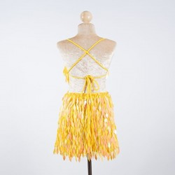 Custom Order Diamond Shaped Sequin Dress Yellow
