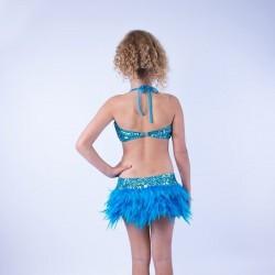 Julie Jazz Leotard with Feather Skirt